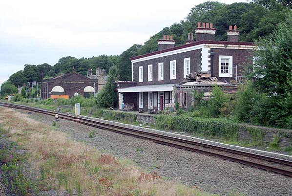 Building in detail in the background is the station s goods shed