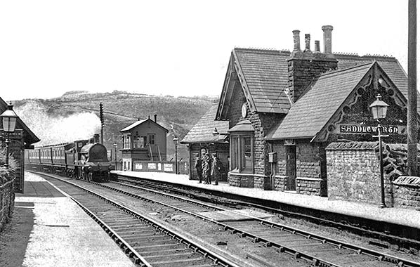 Greenfield Stalybridge Diggle Line 4 Mossley Railway Station Photo L/&NWR.