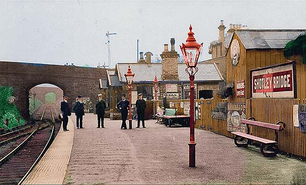 Lintz Green Railway Station Photo Rowlands Gill. 2 High Westwood